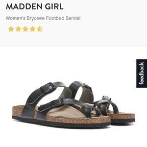 Madden Girl Brycee sandals, black 8.5, NWT
